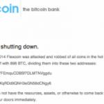 Segundo banco de bitcoin cierra por robo