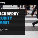HANGOUT: BlackBerry Security Summit en Nueva York