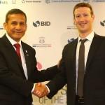 Zuckerberg planteó a Humala propuesta de internet gratuito