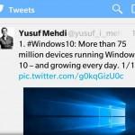 Windows 10 llegó a 75 millones de dispositivos en su primer mes
