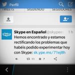 Skype reconoce fallas para hacer llamadas reportadas por usuarios